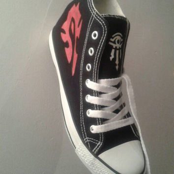 HORDE/ALLIANCE INSPIRED canvas high tops