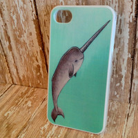 Nautical Narwhal iPhone Case (4/4s and 5)