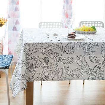 Floral Printed Tablecloths Linen Cotton Table Cover For Home Decorative Rectangular Table Cloth For Wedding Tovaglia Quadrata