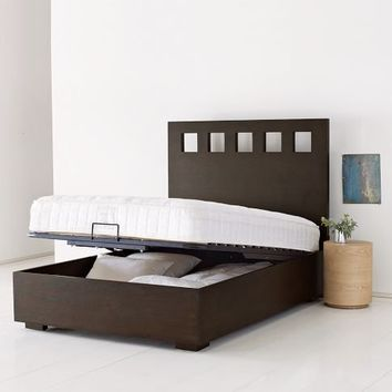 pivot storage bed frame west elm from west elm for my new. Black Bedroom Furniture Sets. Home Design Ideas