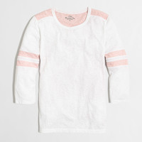 Factory sketched cotton colorblock tee