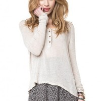Brandy ♥ Melville |  Nadia Knit Top - Tops - Clothing