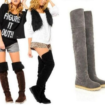 flat heel over the knee boots | Gommap Blog