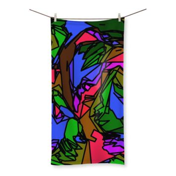 Melted Crayons Beach Towel