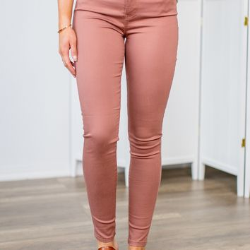 Celebrity Pink- Tea Rose Skinny Jeans