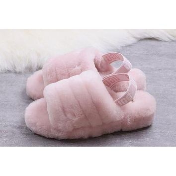 UGG Slippers New Women Fashion Fluff Slipper Shoes