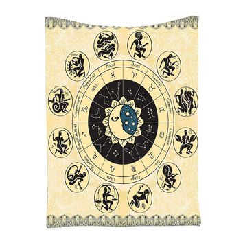 Handicrunch Zodiac Horoscope Tapestry   Astrology  Wall Hanging Beach Covers Up Table Clothes#20