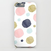 Watercolor and Glitter Dots iPhone & iPod Case by heartlocked