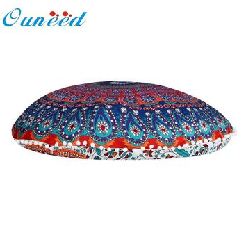 Ouneed Roud Cushion Cover Large Mandala Floor Pillows Round Bohemian Meditation Ottoman Pouf u7105 DROP SHIP