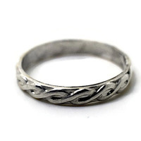 Sterling Silver Ring, Silver Stacking Ring, Twisted Rope Ring, Silver Celtic Ring, Silver Wedding Band