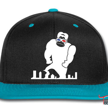 3D GORILLA RAMPAGE GEEK LIKES TO TRASH THIS CITY Snapback