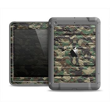 The Vibrant Brick Camouflage Wall Apple iPad Air LifeProof Fre Case Skin Set