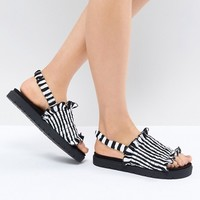 Monki Stripe Sandal at asos.com
