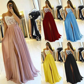 Women Vintage Luxurious Maxi Dress Embroidered Party Dress Casual Elegant Dress Girl Sleeveless Evening Dress