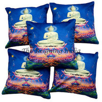 BUDDHA THROW CUSHION CASE HOME LOUNGE DECOR PILLOW COVER Decor 5673