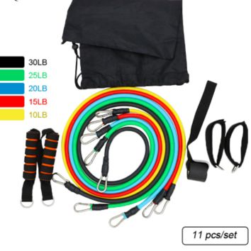 11 Pcs/Set Latex Resistance Bands Crossfit,Training Exercise Yoga Tubes Pull Rope,Rubber Expander Elastic Bands For Fitness