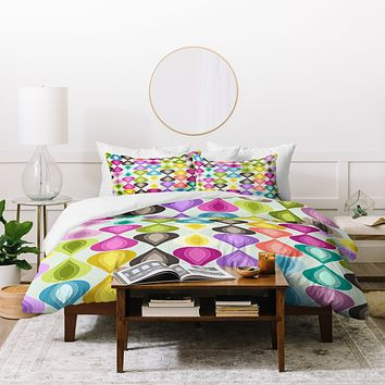 Sharon Turner Candy Gouttelette Duvet Cover