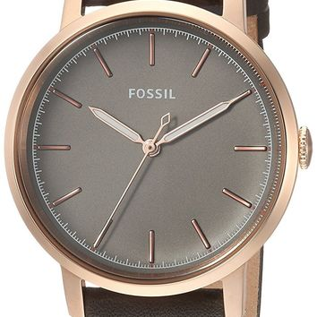 Fossil Neely Three-Hand Leather Watch