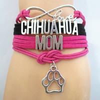 Infinity Love Chihuahua Mom Bracelet on Sale