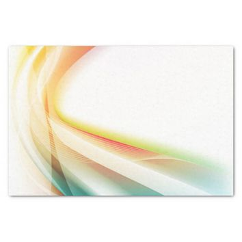 """Abstract Swirl 2 10"""" X 15"""" Tissue Paper"""