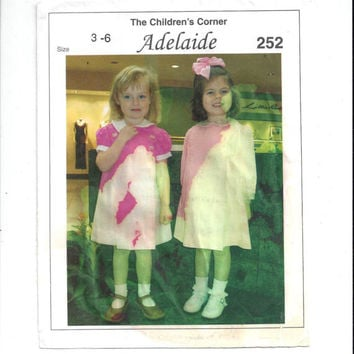 Children's Corner 252 Pattern for Adelaide Girls' Dress, Sizes 3-6, FACTORY FOLDED & UNCUT, from 2004, Home Sewing Pattern, Knife Pleats