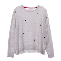 Sundry Womens Star Patch Sweatshirt