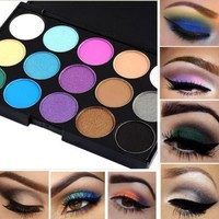 15 Colors Professional Makeup Eye Shadow Shimmer Matte Eyeshadow Palette Set Kit