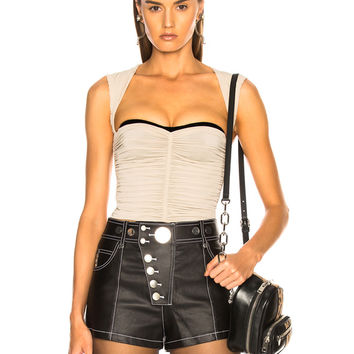 Alexander Wang Ruched Top in Smoke | FWRD