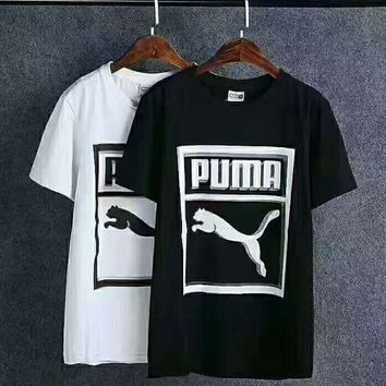 Puma men's sports leisure with short sleeve top H-A0-LLBS
