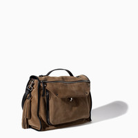SUEDE LEATHER CITY BAG