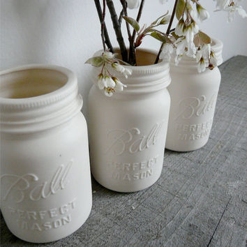 Porcelain Ball Mason Jar Vase