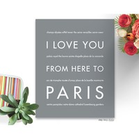 PARIS Travel Art Print | Gift Idea | HopSkipJumpPaper