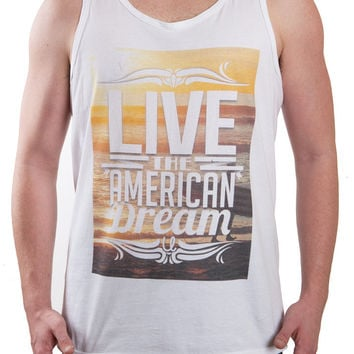 Surf Sunset 'Live the American Dream' Tank Top