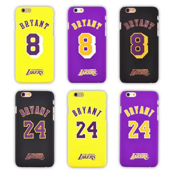 "Bryant Lakers Kobe Hard Plastic Back Case for iPhone 6 6s 4.7"" 6 Plus 6s Plus Matting PC Cover,Free Shipping"