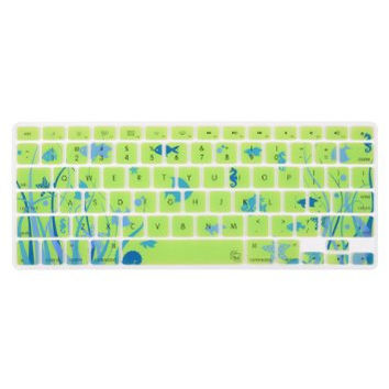 "Green Blue Ocean Coral Reef Fish Theme Keyboard Cover Decal Skin for Apple Macbook Macbook Pro iMac Keyboard  13"" 15"" 17"""