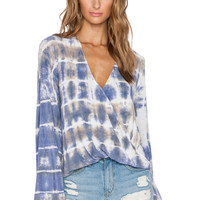 Blue Life Hayley Long Sleeve Top in Abalone Tie Dye