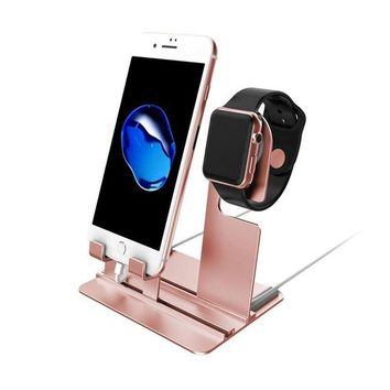 DCCKV2S GBSELL Aluminum Charging Dock Station Charger Holder Stand For iPhone Apple Watch