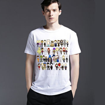 Creative Short Sleeve Cartoons Summer Men's Fashion Strong Character Cotton Casual Tee T-shirts = 6451088899