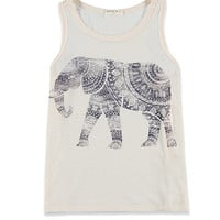 Elephant Graphic Racerback Tank (Kids)