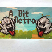 Super Mario Boo Diddly Ear Post Earrings Geekery Geek jewelry Handmade handbeaded