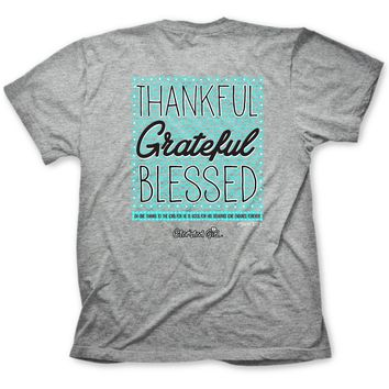 Christian T Tee Shirt Womens Thankful Grateful Blessed T-Shirt S M L XL ALL SIZES
