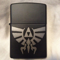 Custom engraved Triforce lighter, engraved Zippo lighter made in the USA
