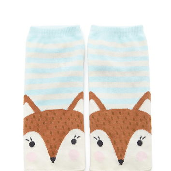 Fox Graphic Striped Ankle Socks | Forever 21 - 2000203056