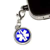 Star of Life - Medical Health EMT RN MD Mobile Phone Charm