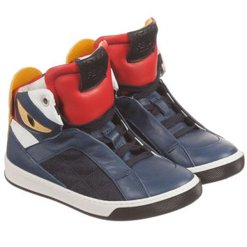Fendi Boys 'Monster' High-Top Sneakers