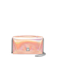 Akris Anouk Small City Flap-Top Bag, Pale Rose/Metallic
