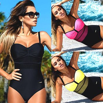One piece swimsuit monokini swimsuit Beach Wear swimwear women bathing suits swimsuit female swimming suit for women