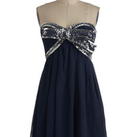 Elegance With a Sparkle Dress in Midnight | Mod Retro Vintage Dresses | ModCloth.com