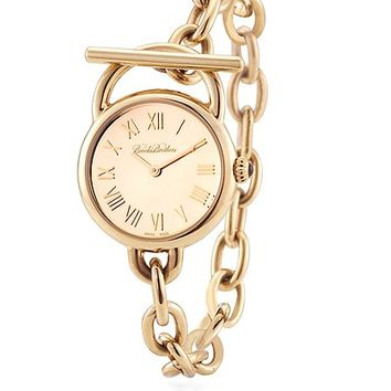 Ladies' Gold Stainless Link Bracelet Watch - Brooks Brothers