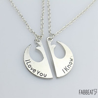 Star Wars Rebel Insignia Couples Necklace